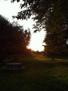 The ending of a lovely day on the farm.